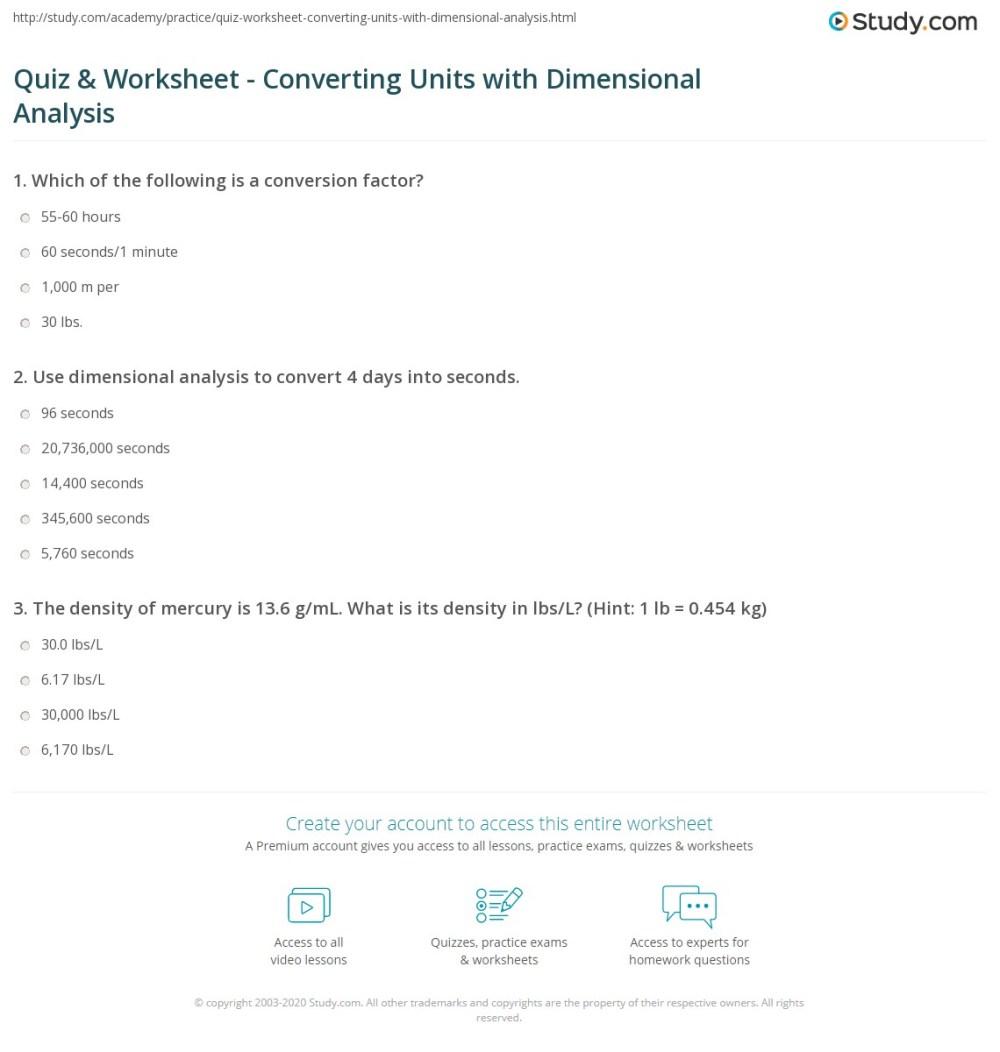 medium resolution of Dimensional Analysis Practice Worksheet Answer Key - Nidecmege