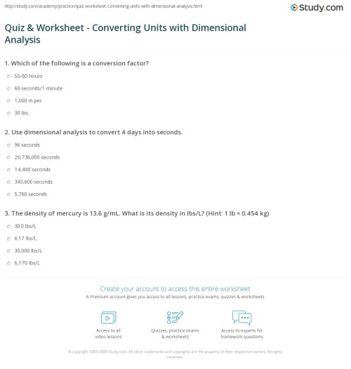 small resolution of Dimensional Analysis Practice Worksheet Answer Key - Nidecmege