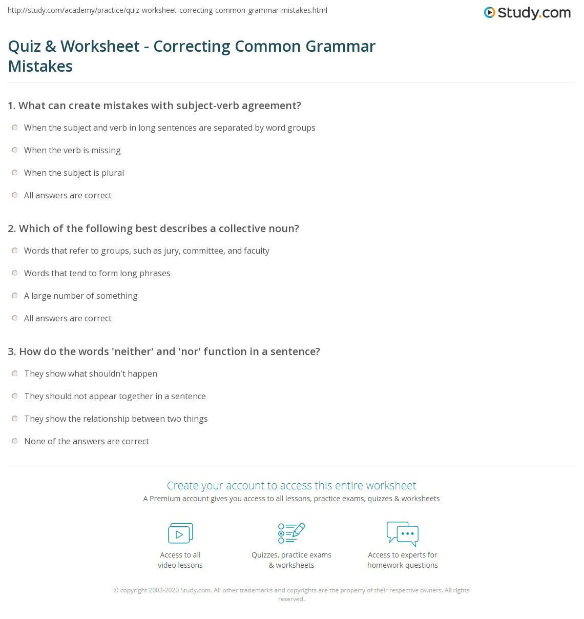 Sample Essay With Grammar Mistakes