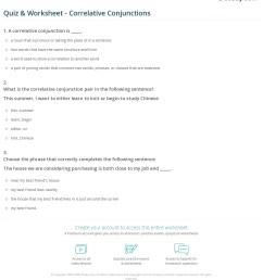 Quiz \u0026 Worksheet - Correlative Conjunctions   Study.com [ 1281 x 1140 Pixel ]