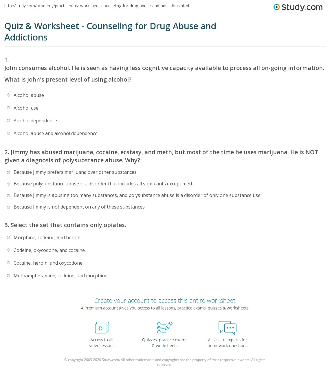 Worksheets Drug Education Worksheets Cheatslist Free
