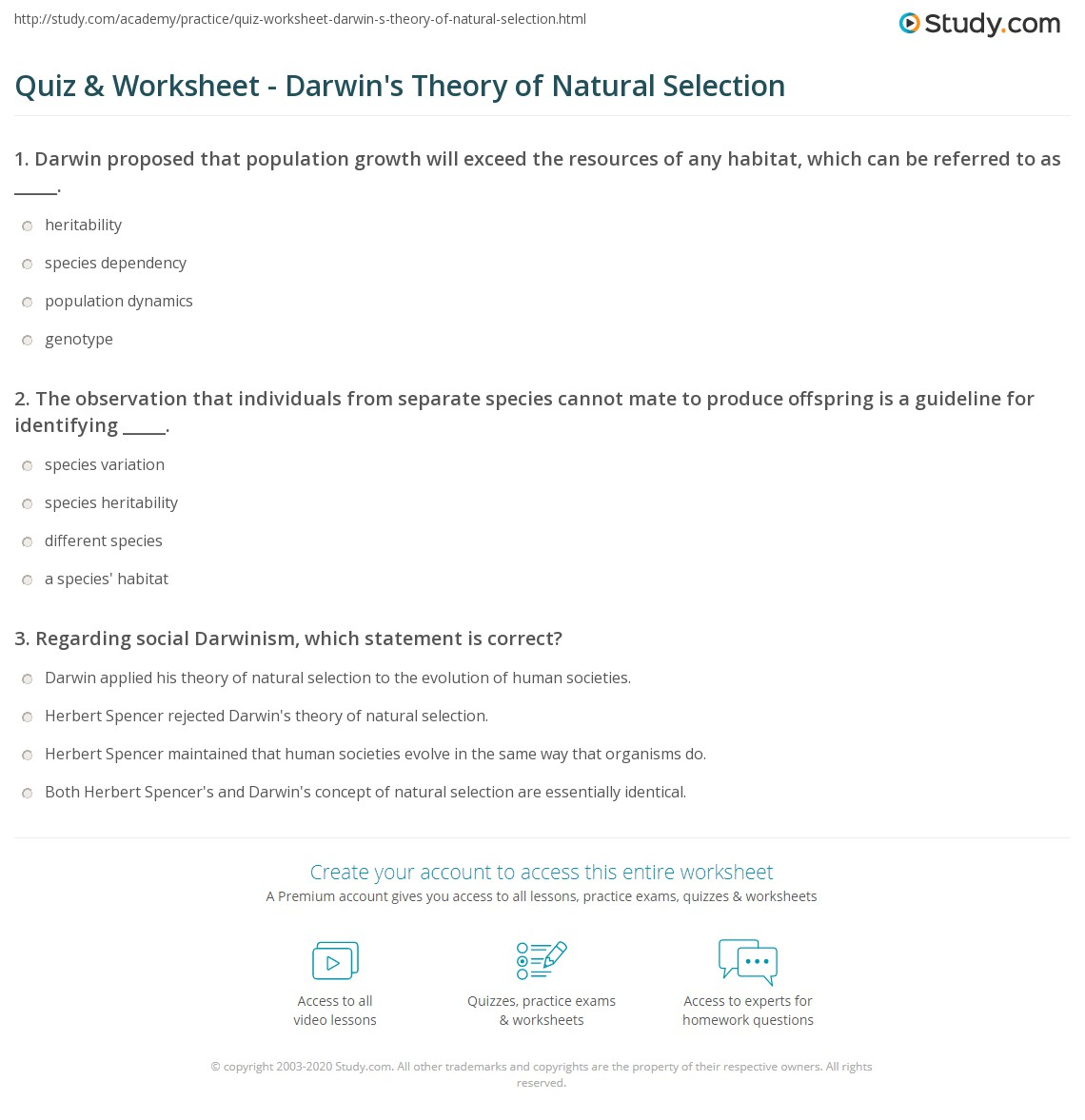 Worksheet Evolution By Natural Selection Worksheet