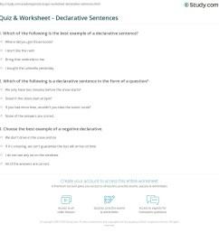 Quiz \u0026 Worksheet - Declarative Sentences   Study.com [ 1169 x 1140 Pixel ]