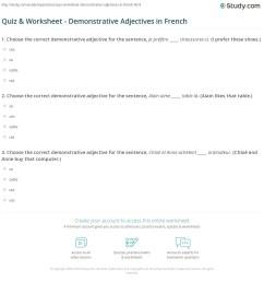 Quiz \u0026 Worksheet - Demonstrative Adjectives in French   Study.com [ 1197 x 1140 Pixel ]