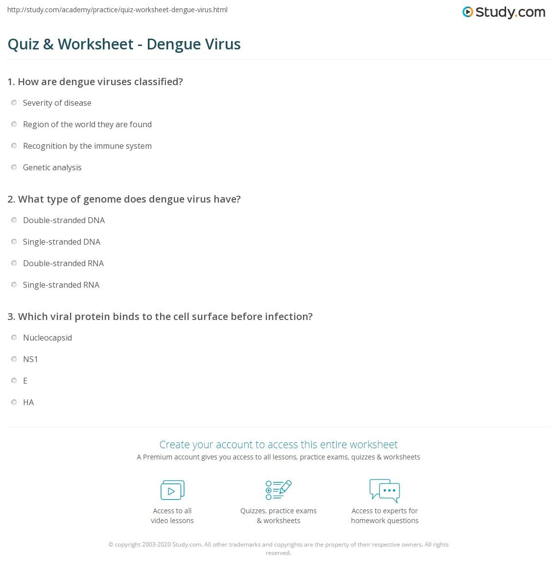 virus diagram worksheet power pole wiring quiz and dengue study