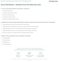 Quiz & Worksheet - Deviation from the Ideal Gas Laws ...