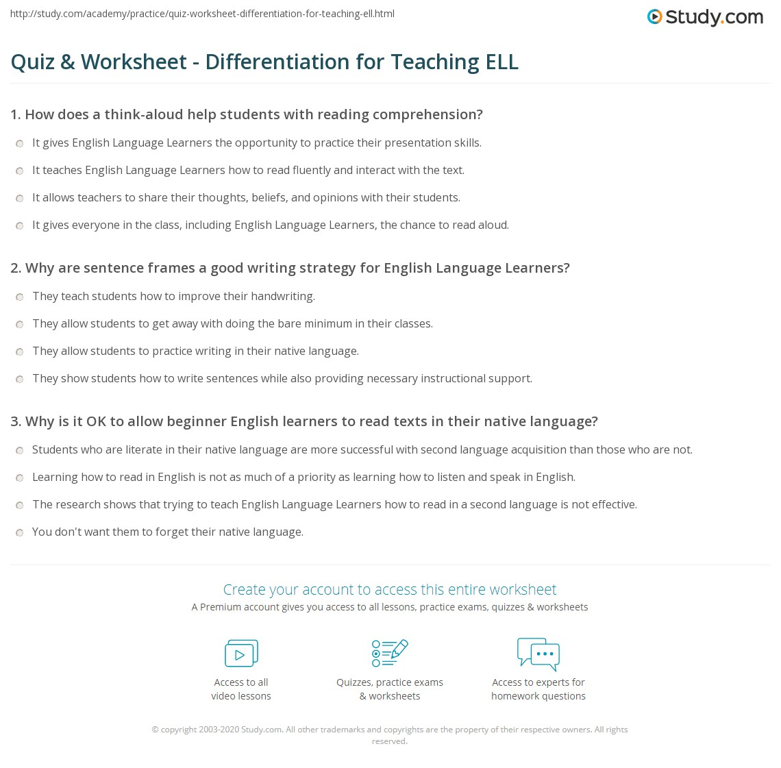 Reading And Writing Strategies For Esl Students
