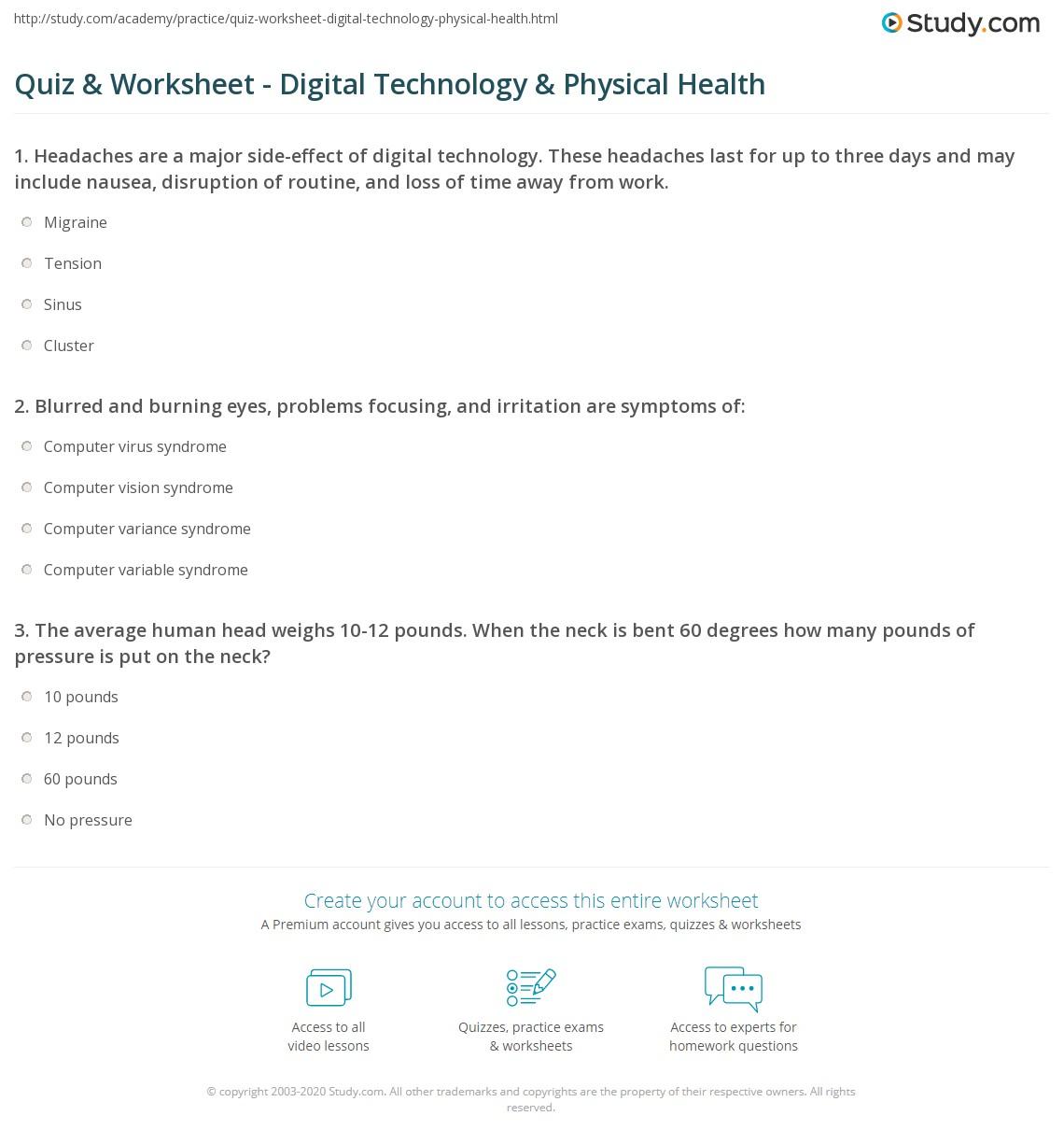 Computer Virus Worksheet