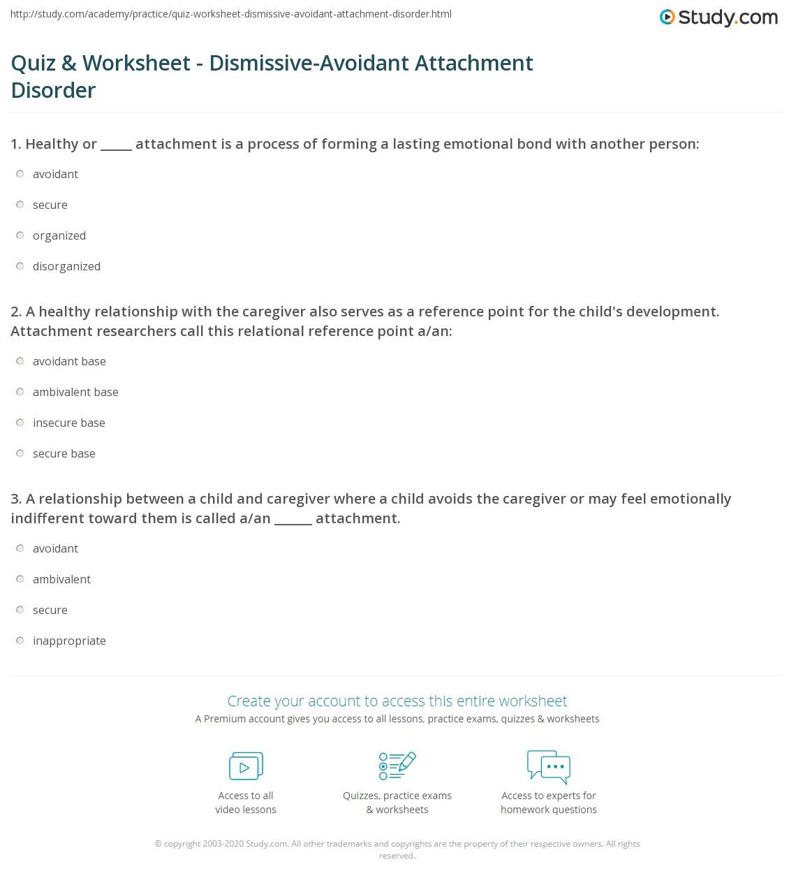 Dismissive Avoidant Attachment Symptoms Dismissive