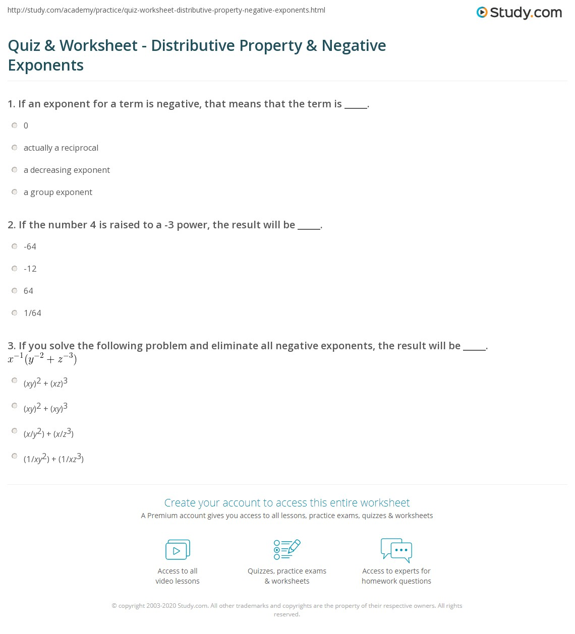 Multiplying Monomials With Exponents Worksheet