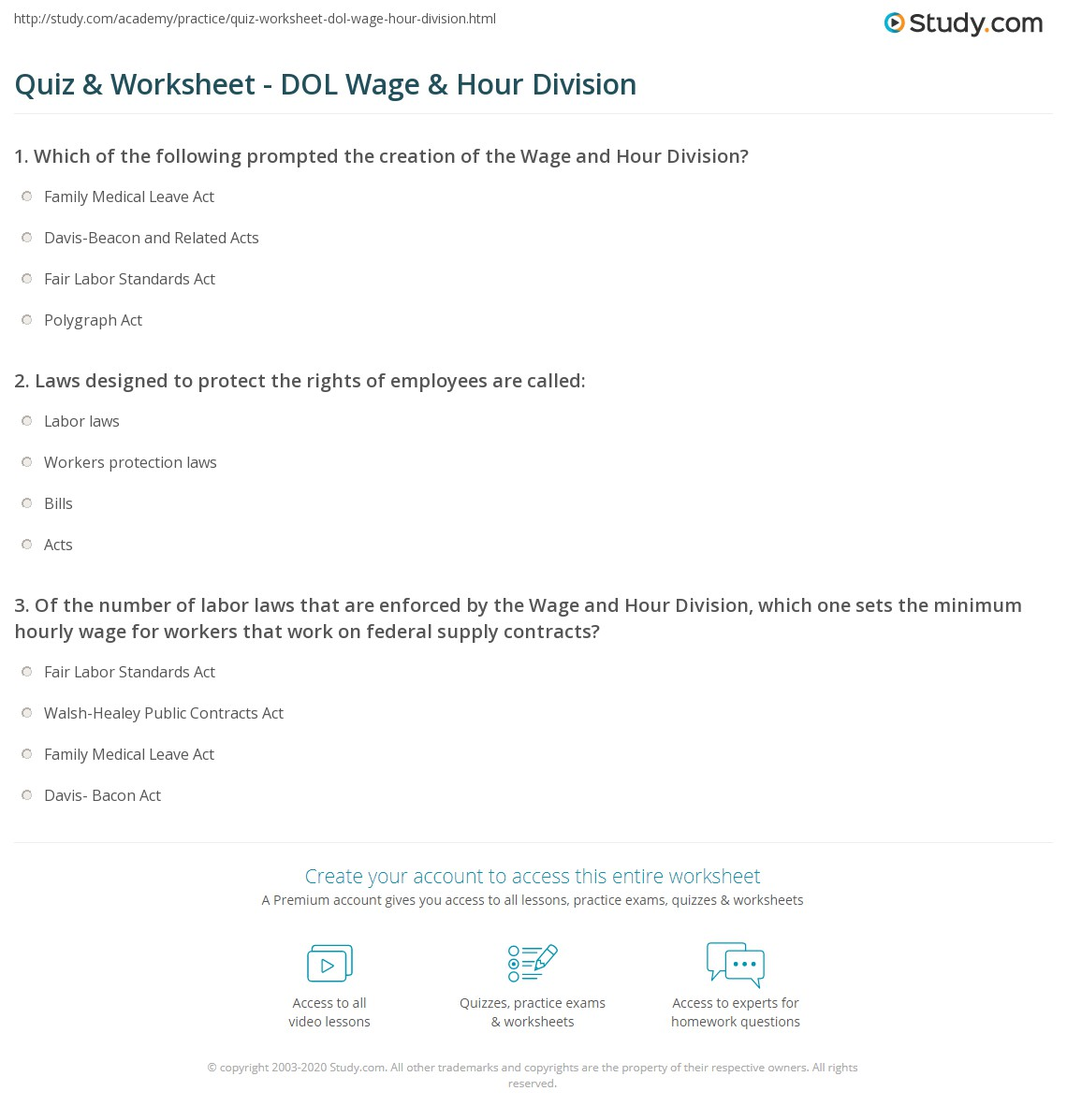Worksheet On Division Of Labour