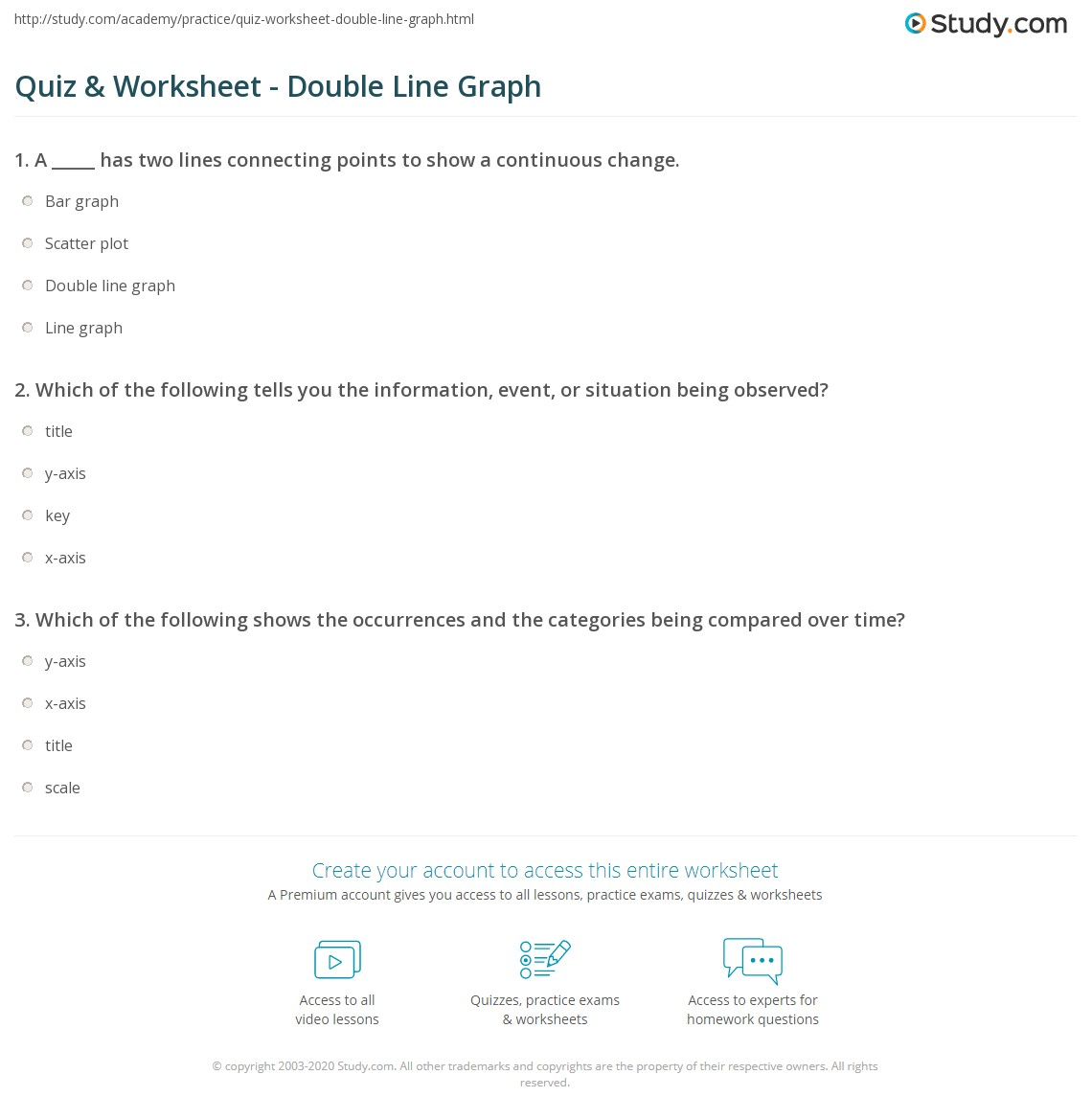 Worksheet Double Line Graph Worksheets Grass Fedjp