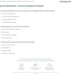 Quiz \u0026 Worksheet - Dracula Synopsis \u0026 Analysis   Study.com [ 1169 x 1140 Pixel ]