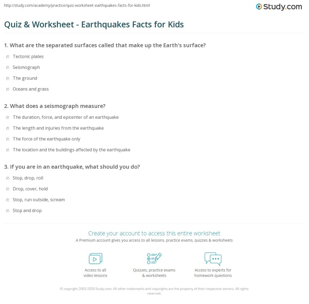 medium resolution of Earthquake Worksheet For Kids - Promotiontablecovers