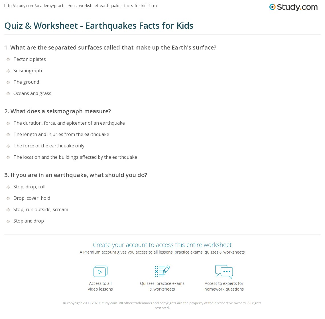 hight resolution of Earthquake Worksheet For Kids - Promotiontablecovers