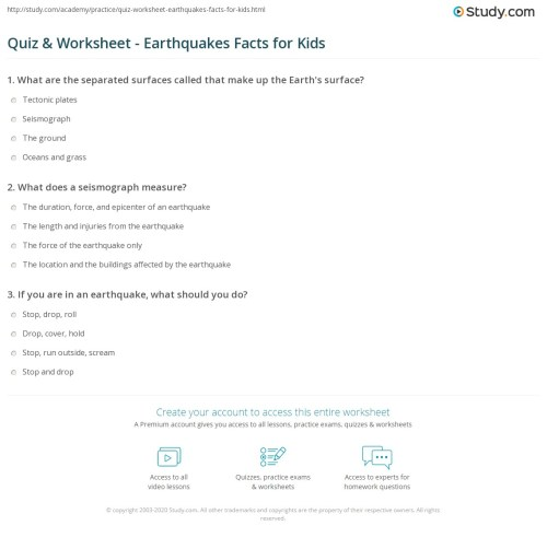 small resolution of Earthquake Worksheet For Kids - Promotiontablecovers