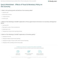 Quiz & Worksheet - Effects of Fiscal & Monetary Policy on ...