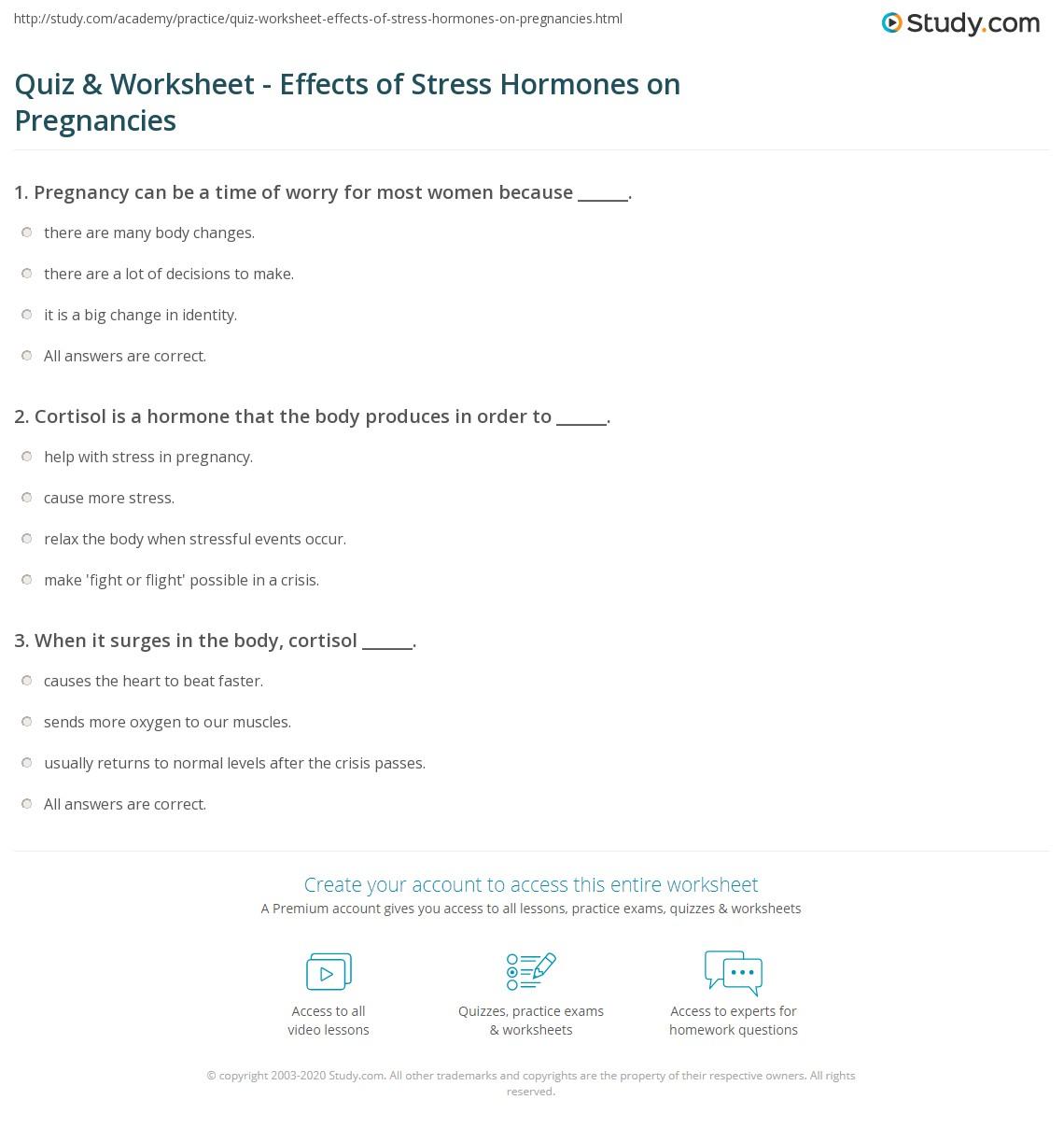 Hormones Worksheet Doc