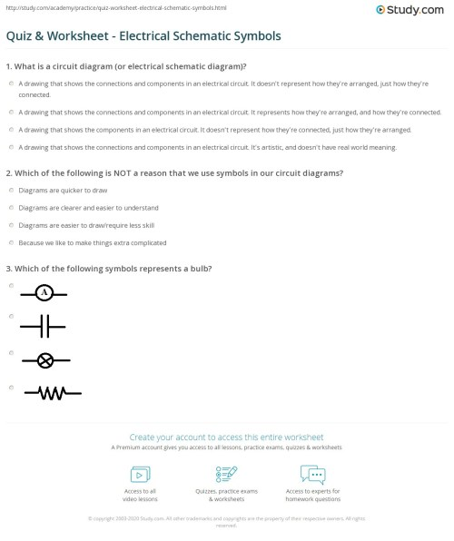small resolution of print electrical schematic symbols worksheet