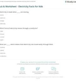Quiz \u0026 Worksheet - Electricity Facts for Kids   Study.com [ 1121 x 1140 Pixel ]