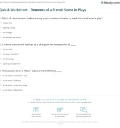 Quiz \u0026 Worksheet - Elements of a French Scene in Plays   Study.com [ 1169 x 1140 Pixel ]