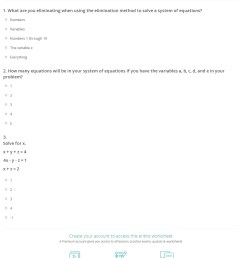 Quiz \u0026 Worksheet - Elimination with a System of Equations   Study.com [ 1528 x 1140 Pixel ]