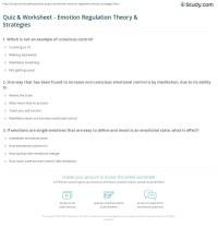 Quiz & Worksheet - Emotion Regulation Theory & Strategies ...