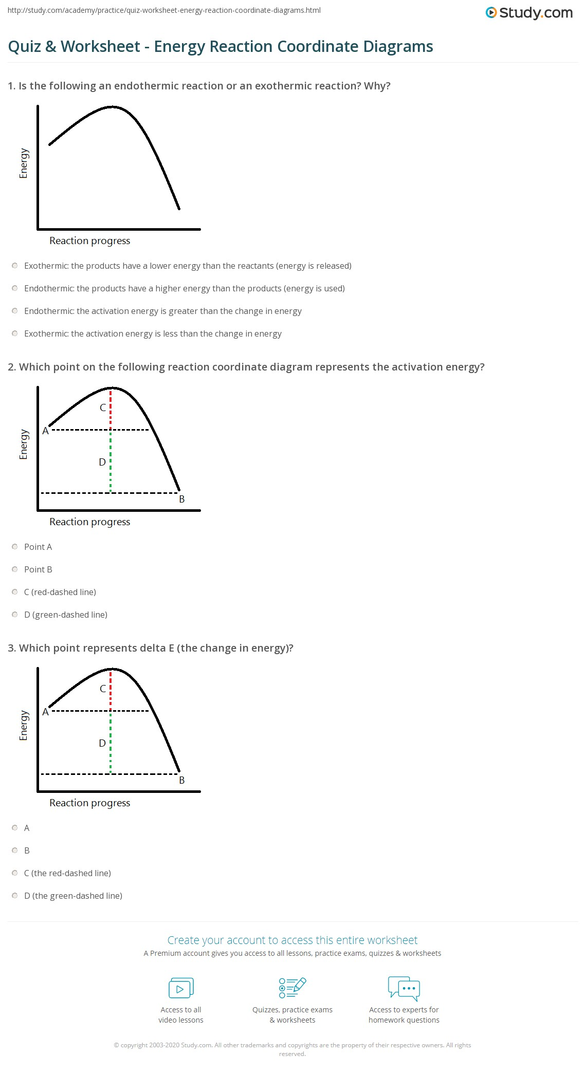 potential energy diagram worksheet key 97 tj wiring quiz and reaction coordinate diagrams