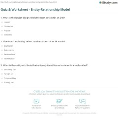 Er Diagram Practice Problems With Solutions Tempstar Wiring Quiz And Worksheet Entity Relationship Model Study