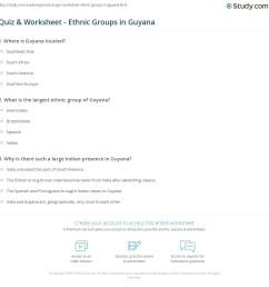Quiz \u0026 Worksheet - Ethnic Groups in Guyana   Study.com [ 1169 x 1140 Pixel ]
