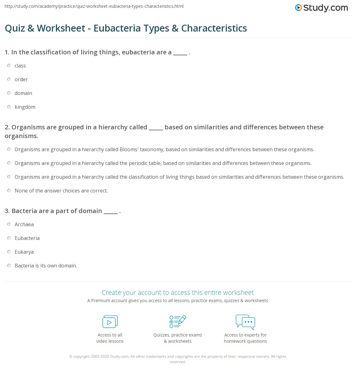 Worksheet Classification Of Organisms Worksheet
