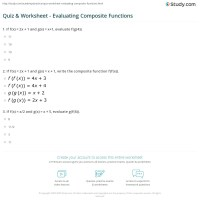 Quiz & Worksheet - Evaluating Composite Functions   Study.com