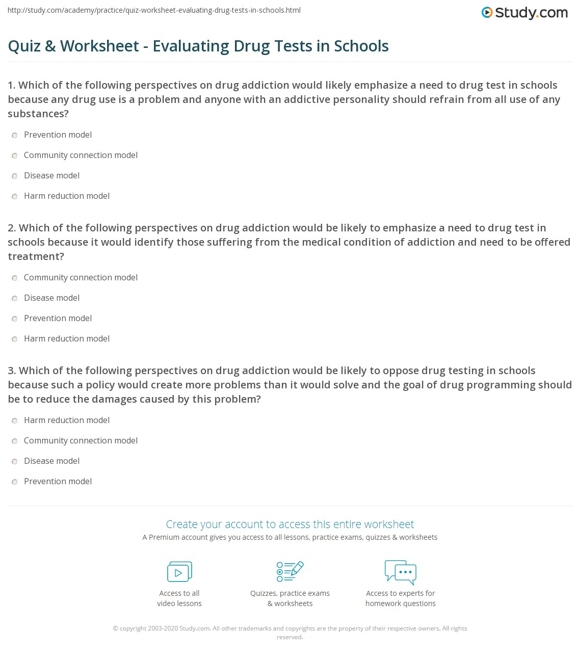 Worksheet For Substance Use Harm Reduction