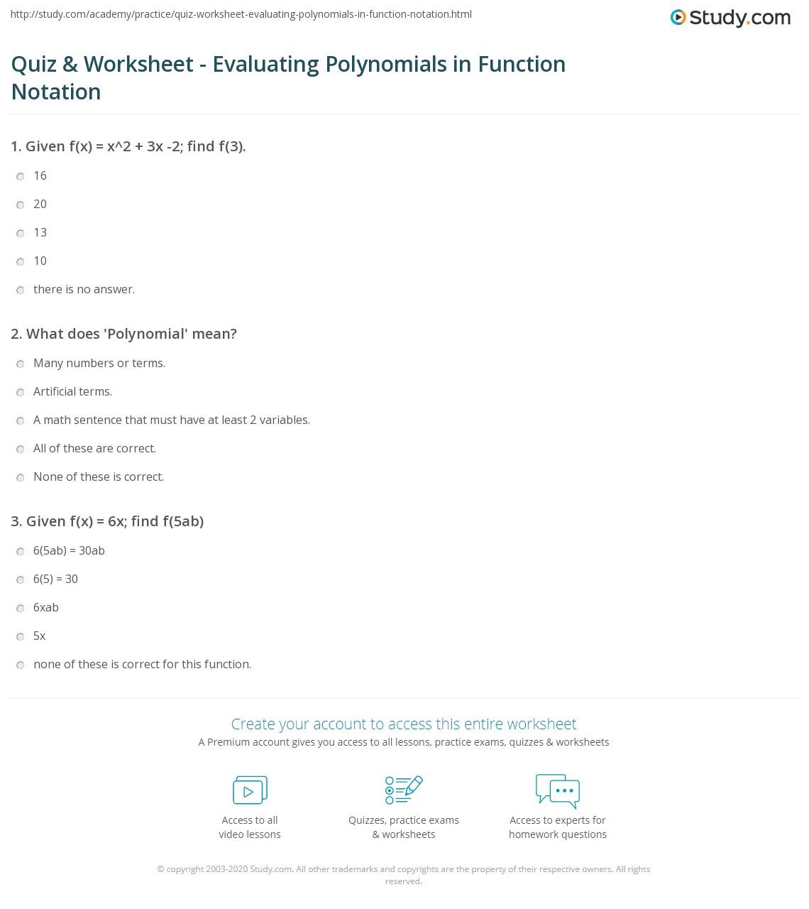 hight resolution of Evaluating Functions Worksheet Algebra 2 - Worksheet List