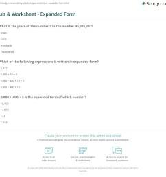 Quiz \u0026 Worksheet - Expanded Form   Study.com [ 1121 x 1140 Pixel ]