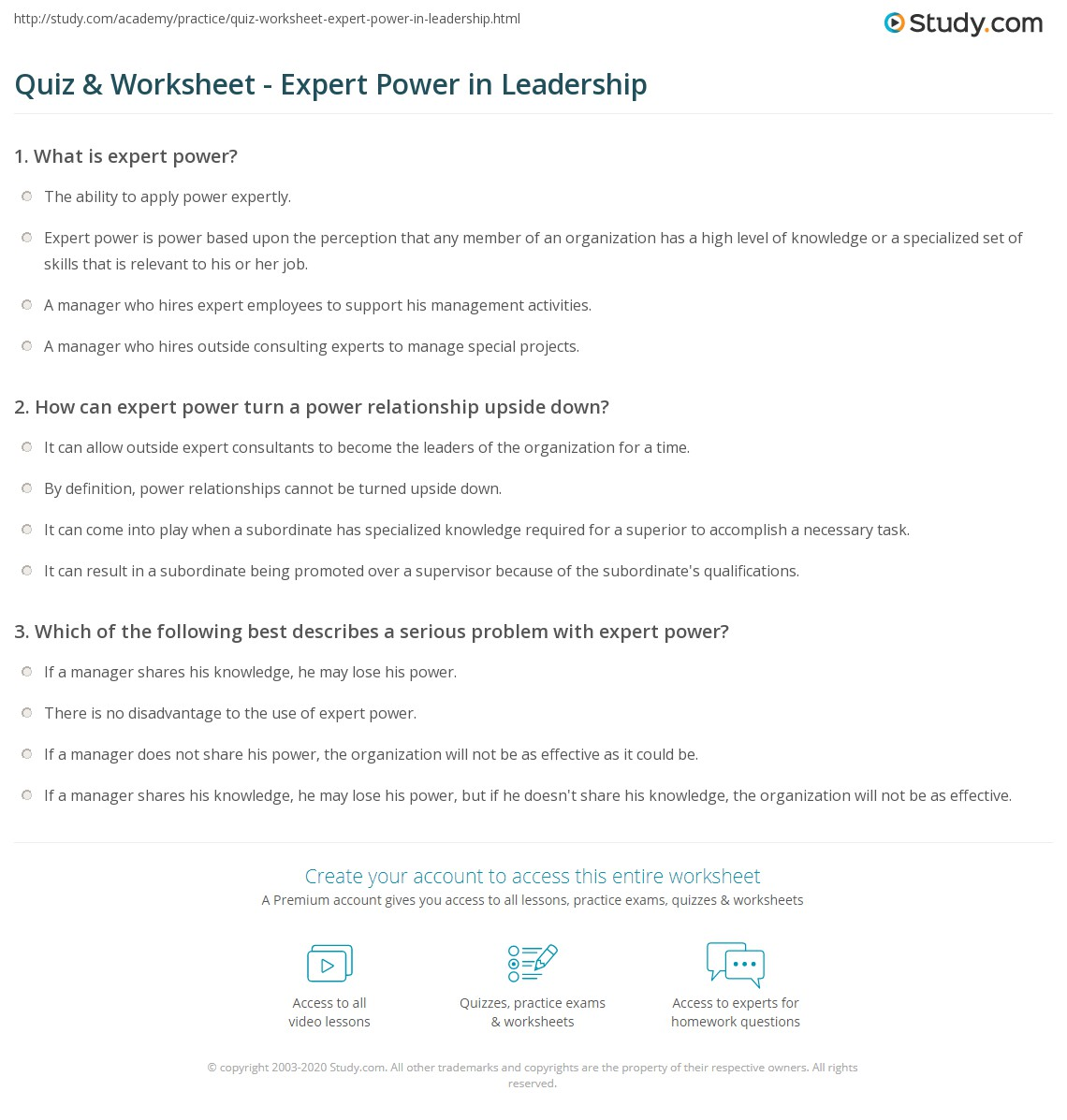 Calculating Power Worksheet