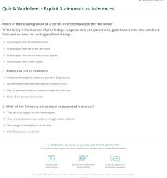 Quiz \u0026 Worksheet - Explicit Statements vs. Inferences   Study.com [ 1279 x 1140 Pixel ]