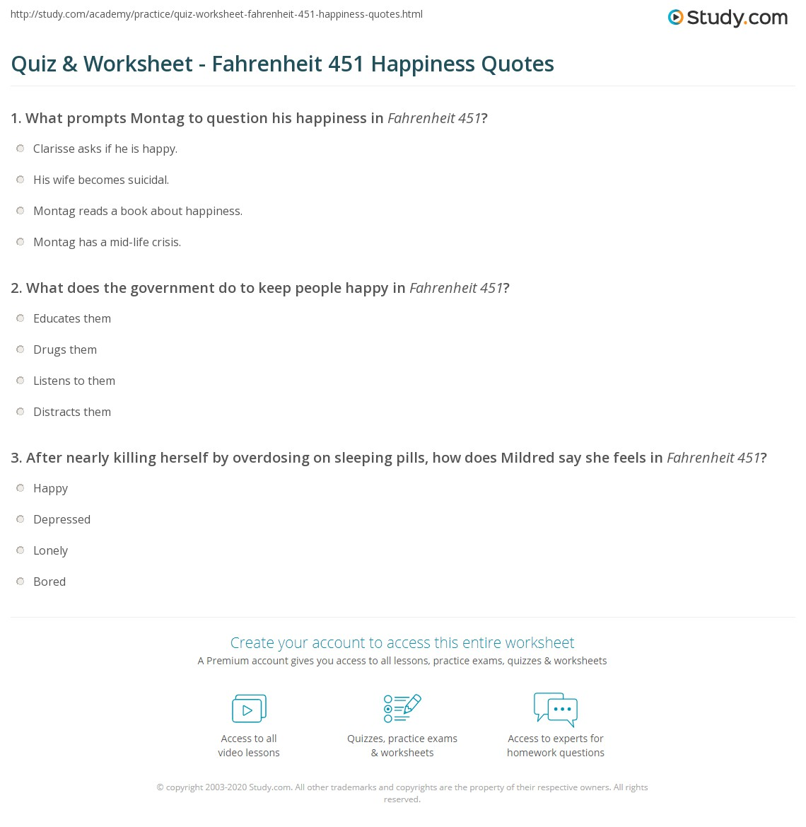 Worksheet Health Happiness