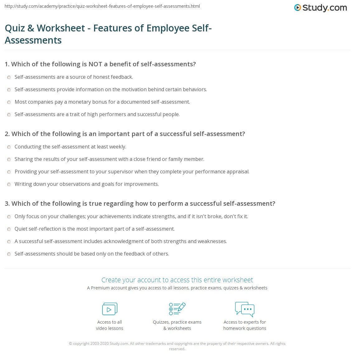 Self Evaluation Strengths And Weaknesses Examples