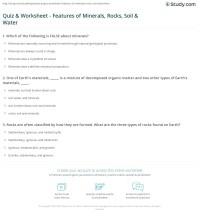 Quiz & Worksheet - Features of Minerals, Rocks, Soil ...