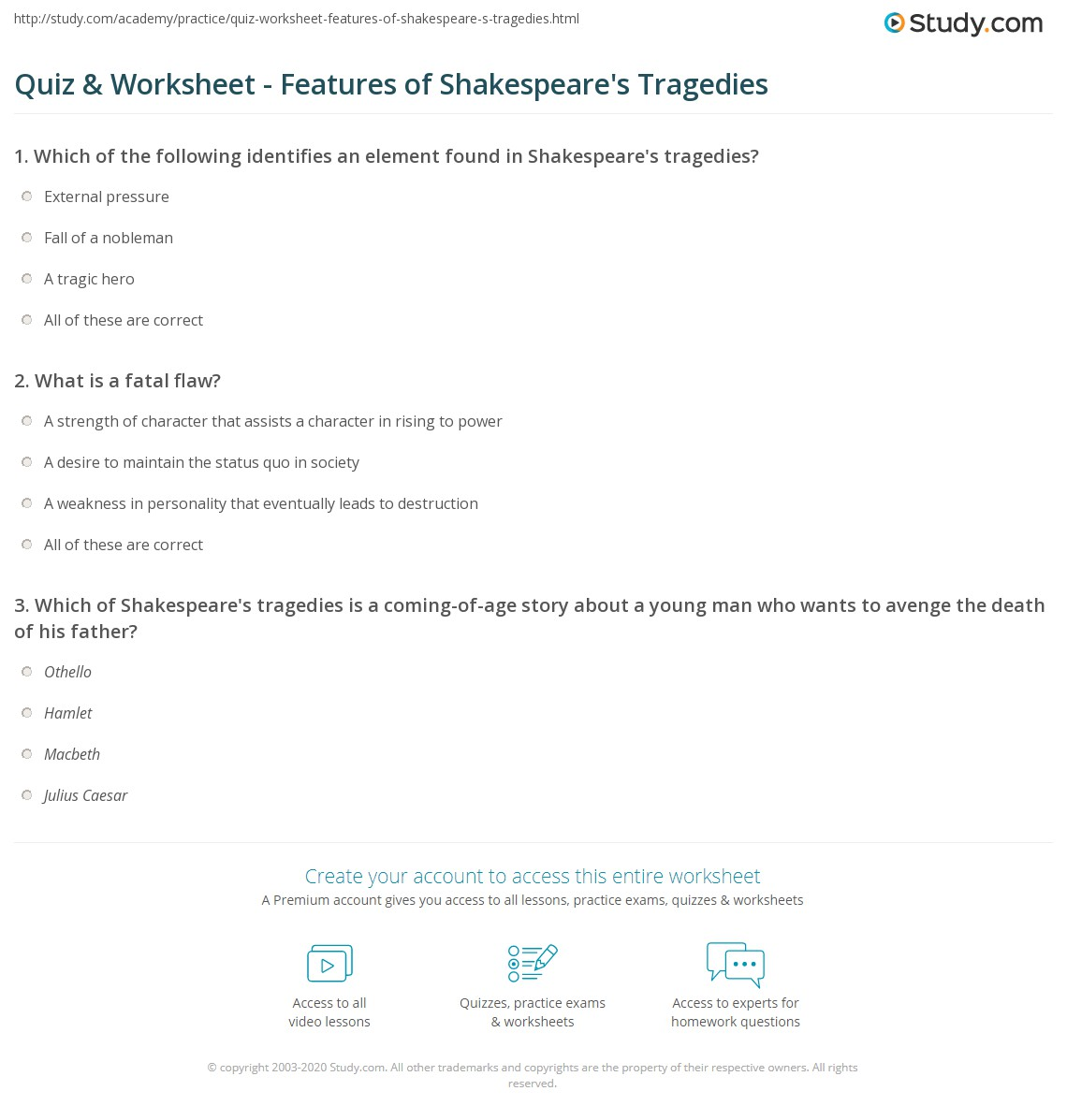 Characteristics Of A Shakespearean Tragic Hero