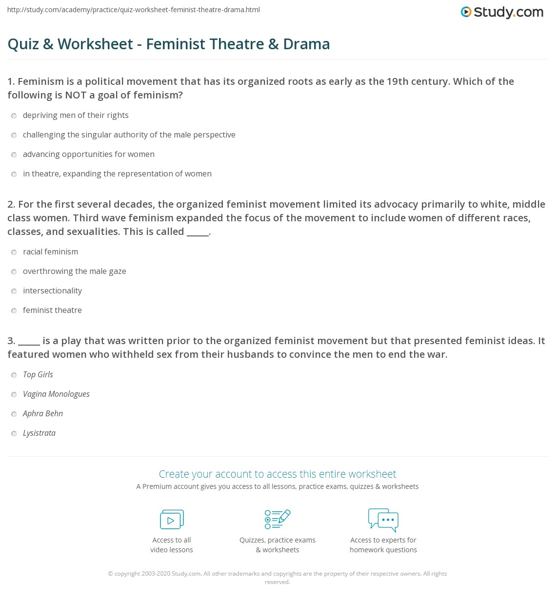 Theatre Plays For Worksheet