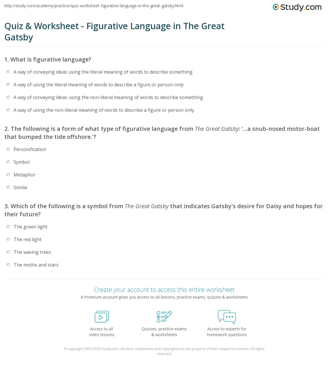Worksheet Figurative Language Worksheets Middle School