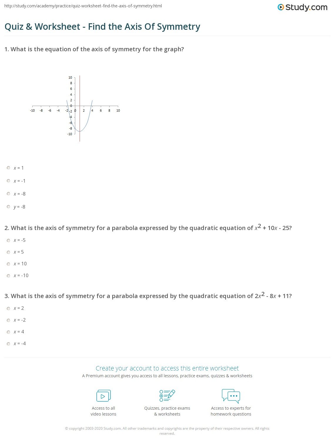 Worksheet Axis Of Symmetry Worksheet Grass Fedjp