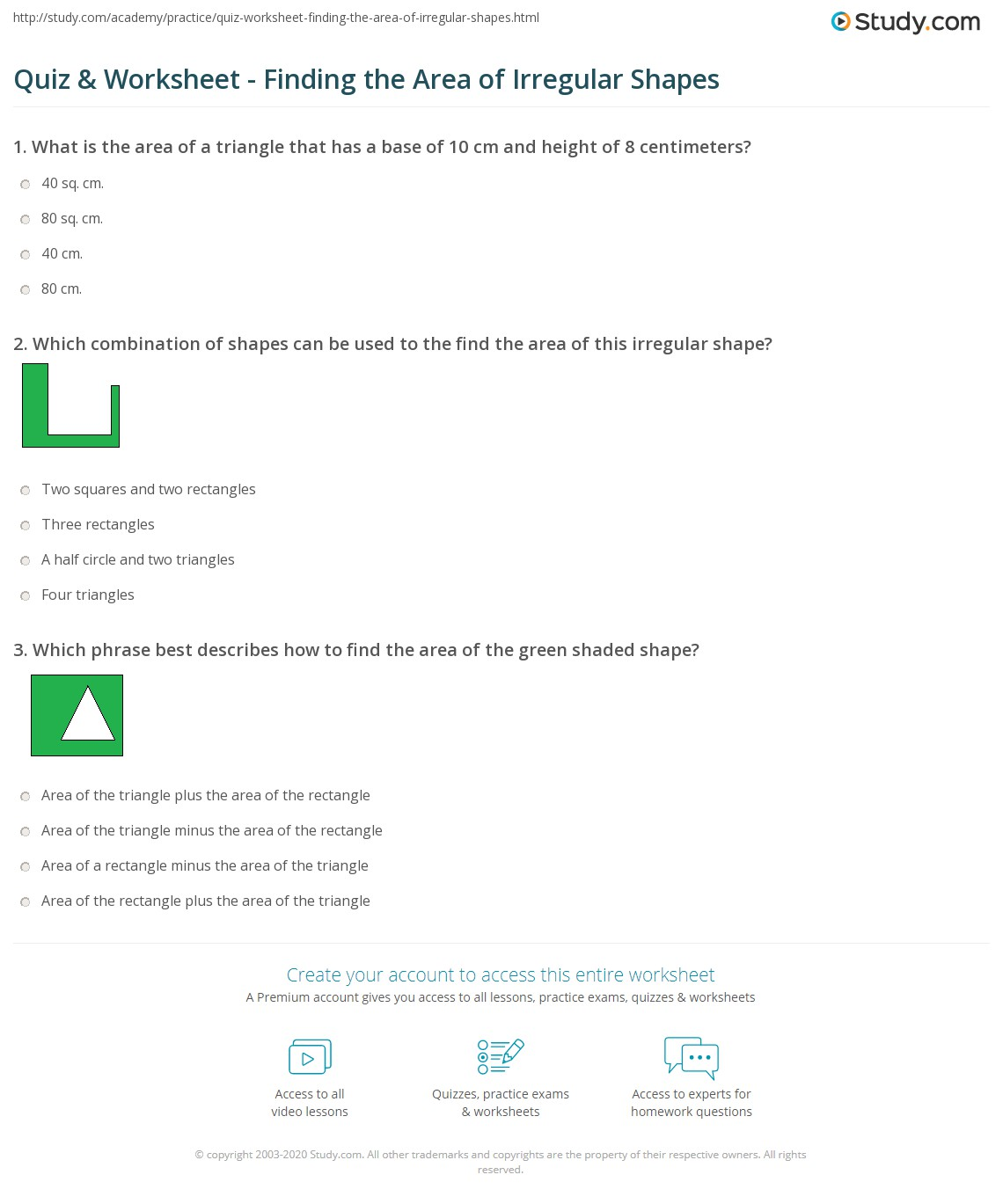 Worksheet Area Of Irregular Shapes Worksheets Worksheet