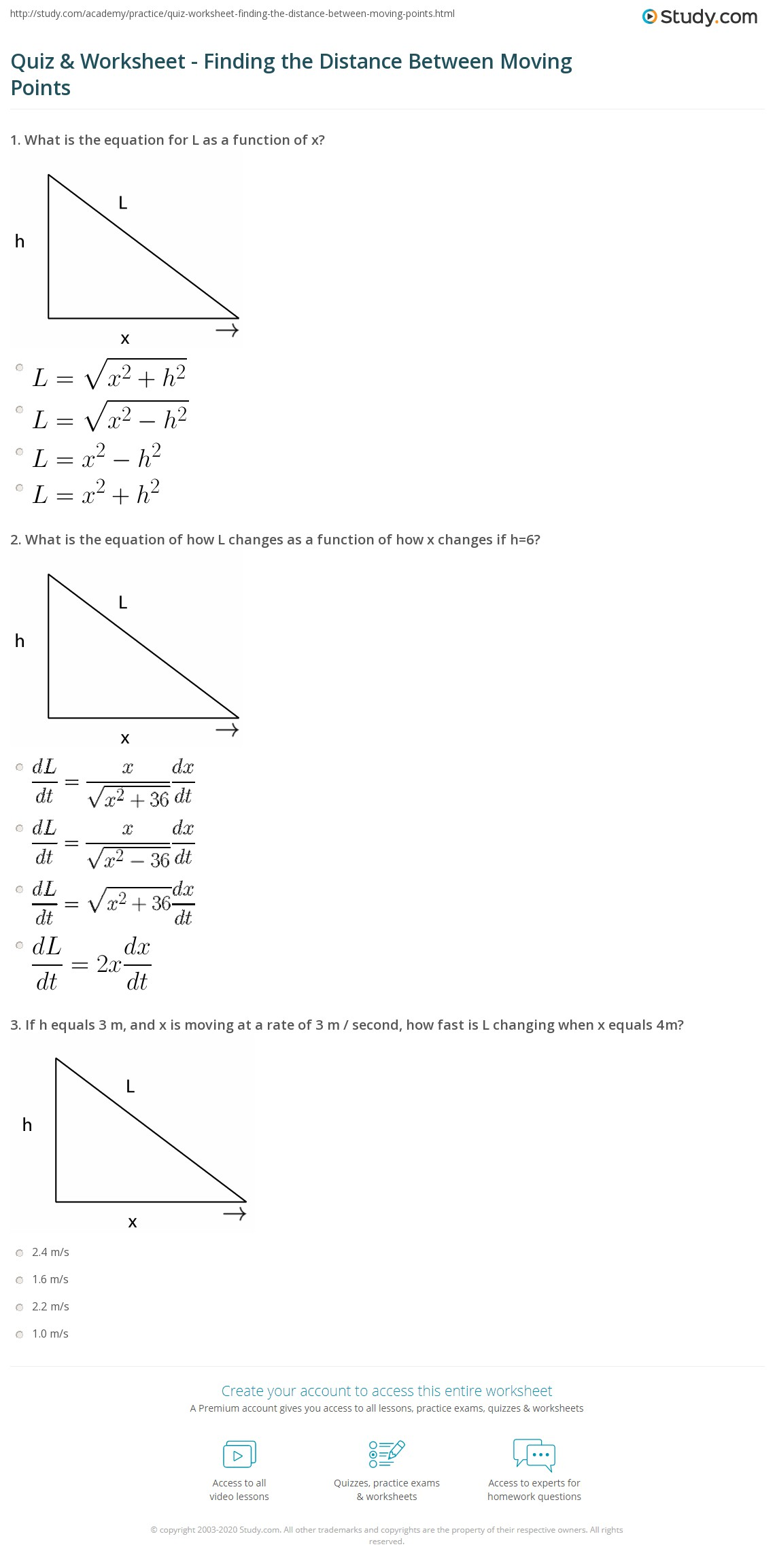 35 Distance Between Two Points Worksheet With Answers