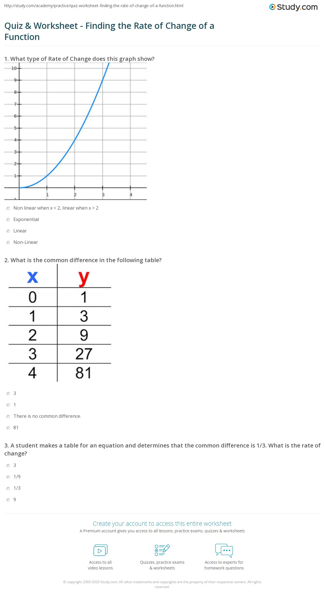 Slope And Rate Of Change Worksheets