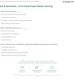 Quiz \u0026 Worksheet - First Grade Project-Based Learning   Study.com [ 1149 x 1140 Pixel ]