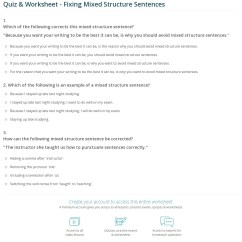 How To Diagram A Sentence Worksheet Solar System Wiring Quiz And Fixing Mixed Structure Sentences