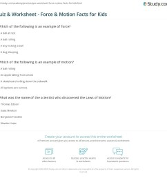 Quiz \u0026 Worksheet - Force \u0026 Motion Facts for Kids   Study.com [ 1121 x 1140 Pixel ]